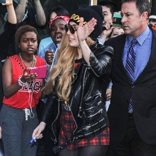 Lady GaGa in Lady GaGa Mobbed by Fans