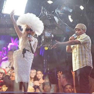 Lady GaGa in Lady GaGa Filming for MTV's TRL