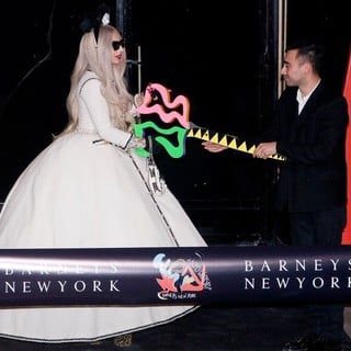 Lady GaGa - Lady GaGa at The Ribbon Cutting Ceremony to Open GaGa's Workshop