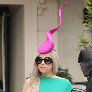 Lady GaGa in Lady GaGa Outside The ITV Studios Wearing A Pink Hat