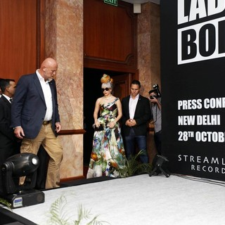 Lady GaGa - Lady GaGa Attends A Press Conference to Promote Her Upcoming Concert