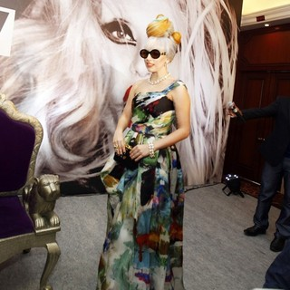 Lady GaGa in Lady GaGa Attends A Press Conference to Promote Her Upcoming Concert