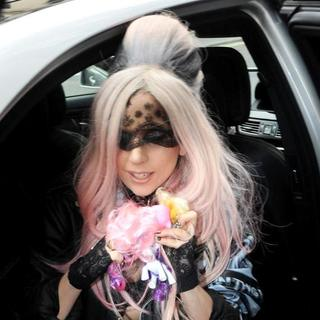 Lady GaGa in Lady GaGa Outside Her Hotel, Wearing A My Little Pony Necklace