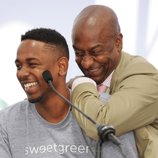 Kendrick Lamar, Stephen G. Hill in BET Awards 2013 Press Conference