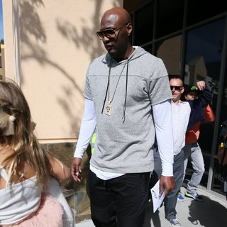 The Kardashian Family and Lamar Odom Attend The Easter Sunday Service