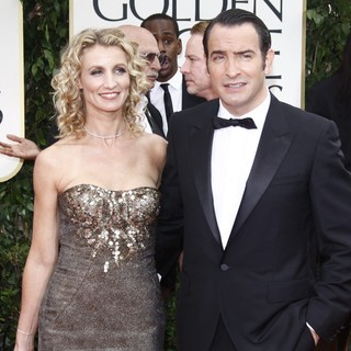 Alexandra Lamy, Jean Dujardin in The 69th Annual Golden Globe Awards - Arrivals