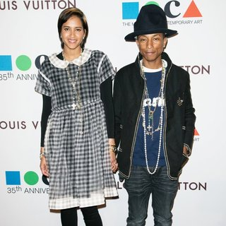Helen Lasichanh, Pharrell Williams in MOCA's 35th Anniversary Gala Presented by Louis Vuitton
