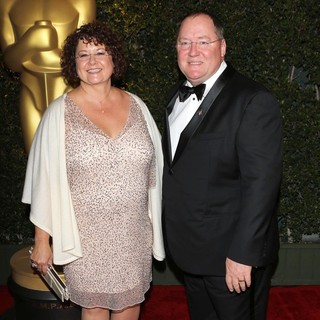 Nancy Lasseter, John Lasseter in The Academy of Motion Pictures Arts and Sciences' 4th Annual Governors Awards - Arrivals