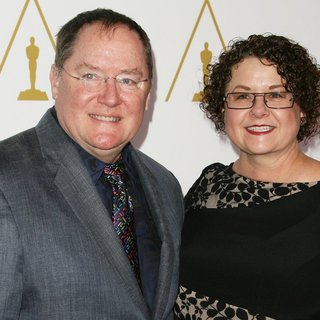 John Lasseter, Nancy Lasseter in The 86th Oscars Nominees Luncheon - Arrivals