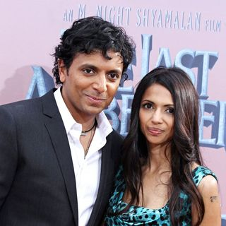 M. Night Shyamalan, Bhavna Vaswani in Premiere of 'The Last Airbender' - Arrivals