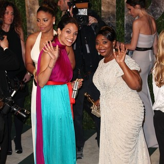 Sanaa Lathan, Rosario Dawson, Octavia Spencer in 2012 Vanity Fair Oscar Party - Arrivals