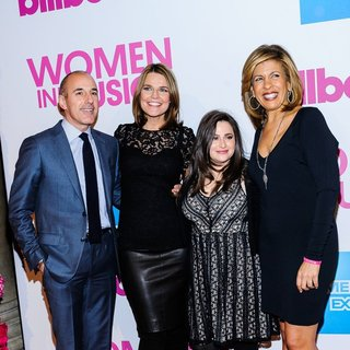Matt Lauer, Savannah Guthrie, Hoda Kotb in Billboard Women in Music Luncheon 2014