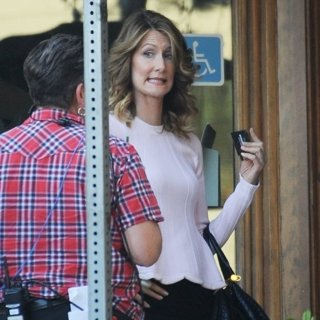 Laura Dern in Filming Scenes for Big Little Lies