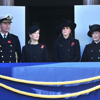 Timothy Laurence, Sophie Rhys-Jones, Kate Middleton, Susan Hussey in Sunday Commemorating Sacrifices of The Armed Forces