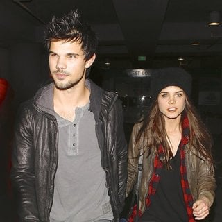 Taylor Lautner, Marie Avgeropoulos in Taylor Lautner and Marie Avgeropoulos Arriving for The Jay-Z Concert