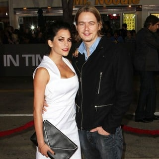 Inbar Lavi, Christoph Sanders in The Premiere of In Time - Arrivals