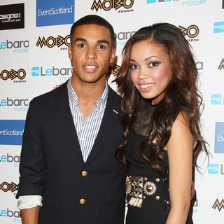 Lucien Laviscount, Dionne Bromfield in The MOBO Awards 2011 - Press Room