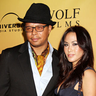 Terrence Howard, Michelle Ghent in 'Law & Order: Los Angeles' Premiere Party