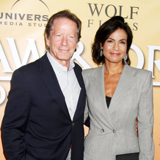Peter Strauss, Rachel Ticotin in 'Law & Order: Los Angeles' Premiere Party