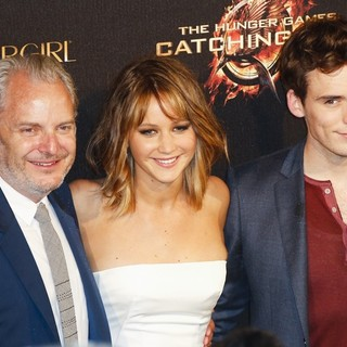Francis Lawrence, Jennifer Lawrence, Sam Claflin in 66th Cannes Film Festival - The Hunger Games: Catching Fire - Party