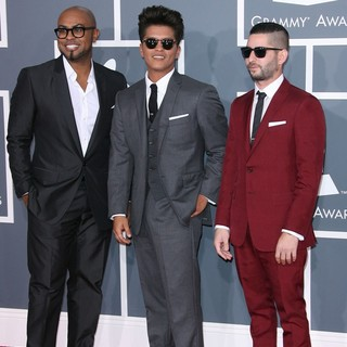 Philip Lawrence, Bruno Mars, Ari Levine in 54th Annual GRAMMY Awards - Arrivals