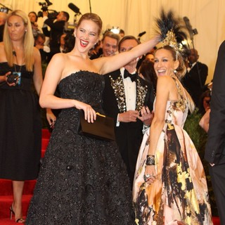 Jennifer Lawrence, Sarah Jessica Parker in PUNK: Chaos to Couture Costume Institute Gala