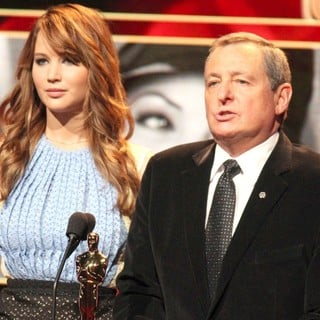 Jennifer Lawrence, Tom Sherak in The 84th Academy Awards Nominations Announcement
