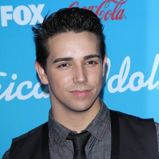 Lazaro Arbos in FOX's American Idol Finalists Party