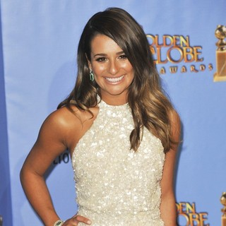 Lea Michele in 70th Annual Golden Globe Awards - Press Room