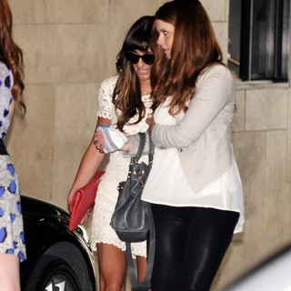 Lea Michele in Lea Michele Departs Jamie-Lynn Sigler's Baby Shower