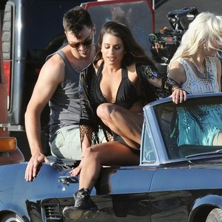 Lea Michele in Lea Michele Filming Music Video On My Way