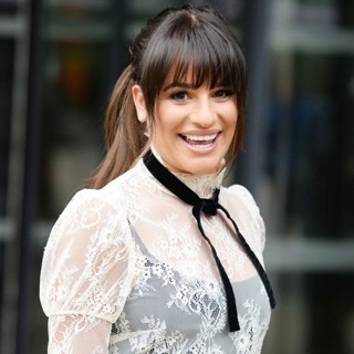 Lea Michele Spotted Leaving The BBC Breakfast Studio's Media City
