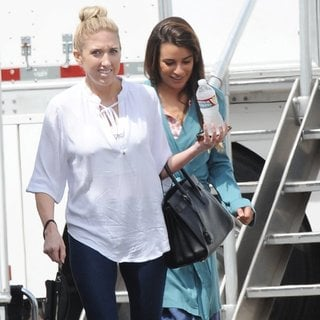 Lea Michele in On The Set of Sons of Anarchy