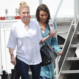 Lea Michele - On The Set of Sons of Anarchy