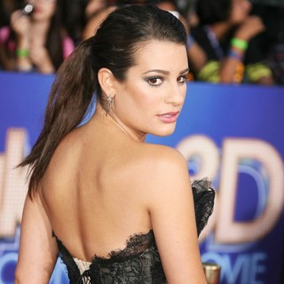 Lea Michele in The World Premiere of Glee The 3D Concert Movie - Arrivals