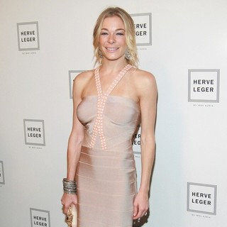LeAnn Rimes in Mercedes-Benz Fashion Week Spring 2012 - Herve Leger - Backstage