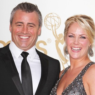 Matt LeBlanc, Andrea Anders in The 63rd Primetime Emmy Awards - Arrivals