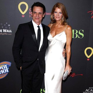 Christian LeBlanc, Michelle Stafford in 2011 Daytime Emmy Awards - Red Carpet