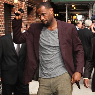 LeBron James in The Late Show with David Letterman - Arrivals
