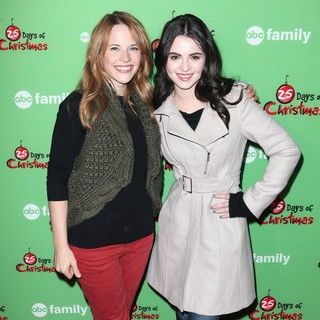 Katie Leclerc, Vanessa Marano in ABC Family's 25 Days of Christmas Winter Wonderland Event