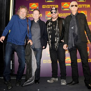 Robert Plant, John Paul Jones, Jason Bonham, Jimmy Page, Led Zeppelin in Led Zeppelin Celebration Day Press Conference