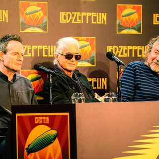 John Paul Jones, Jimmy Page, Robert Plant, Led Zeppelin in Led Zeppelin Celebration Day Press Conference