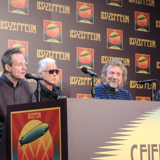 John Paul Jones, Jimmy Page, Robert Plant, Jason Bonham, Led Zeppelin in Led Zeppelin Celebration Day Press Conference