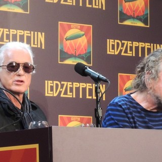 Jimmy Page, Robert Plant, Led Zeppelin in Led Zeppelin Celebration Day Press Conference