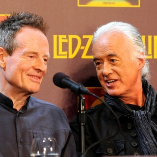 John Paul Jones, Jimmy Page, Led Zeppelin in Led Zeppelin Celebration Day Press Conference