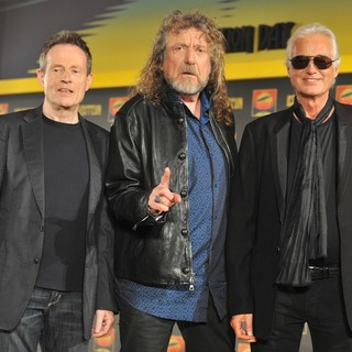 John Paul Jones, Robert Plant, Jimmy Page, Led Zeppelin in Led Zeppelin Launch Their 2007 Celebration Day Concert - Photocall