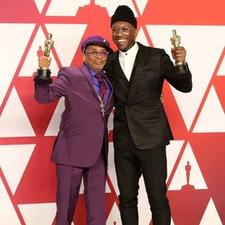 Spike Lee, Mahershala Ali in 91st Annual Academy Awards - Press Room
