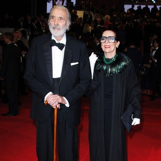 Christopher Lee, Gitte Lee in World Premiere of Skyfall - Arrivals