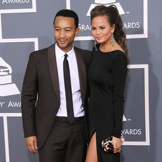 John Legend, Christine Teigen in 54th Annual GRAMMY Awards - Arrivals