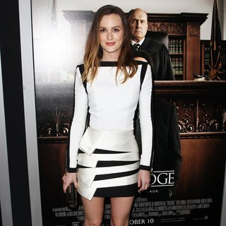 Leighton Meester in Premiere of Warner Bros. Pictures and Village Roadshow Pictures' The Judge - leighton-meester-premiere-the-judge-03